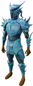 Elite sirenic armour set (ice) equipped.png: Elite sirenic mask (ice) equipped by a player