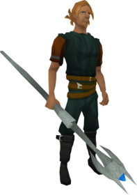 Rod of Ivandis equipped.png: Rod of ivandis equipped by a player