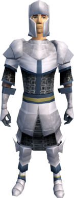 White armour (light) equipped (male).png: White plateskirt equipped by a player