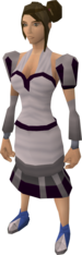 White elegant outfit (blouse and skirt) equipped (female).png