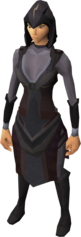 A female player wearing the disguise.