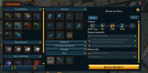 Runescape Armor Levels
