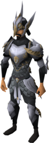 Lucky Armadyl armour equipped (male).png: Lucky Armadyl chestplate equipped by a player
