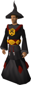 Dagon'hai robe armour equipped (male).png: Dagon'hai hat equipped by a player