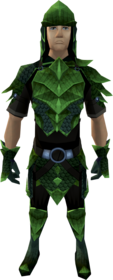 Green dragonhide armour equipped (male).png: Green dragonhide chaps equipped by a player