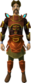 Primal armour (light) equipped (male).png: Primal chainbody equipped by a player