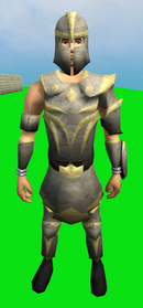 Corrupt Statius's armour equipped (male).png: Corrupt Statius's platebody equipped by a player