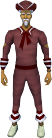 Naval outfit (red) equipped (male).png: Red tricorn hat equipped by a player