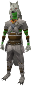 Hati outfit equipped (male).png: Fenrir legs equipped by a player