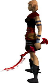 Khopesh of Elidinis (blood) equipped.png: Khopesh of Elidinis (blood) equipped by a player