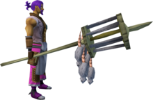 Rat pole (5) equipped.png: Rat pole equipped by a player