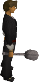 Ancient mace equipped.png: Superior ancient mace equipped by a player