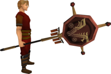 Banner of V equipped.png: Banner of V equipped by a player