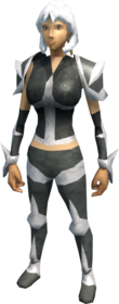 Skeletal armour equipped (female).png: Skeletal bottoms equipped by a player