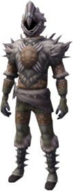 Desert trapper outfit equipped.png: Desert trapper head equipped by a player