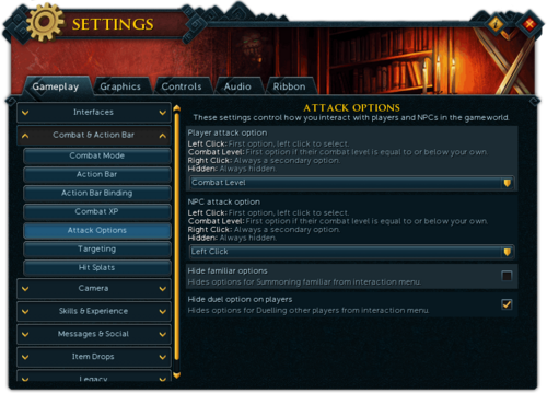 Settings - Combat & Action Bar - Attack Options interface.png