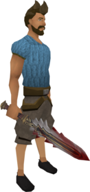Sunspear equipped.png: Sunspear equipped by a player