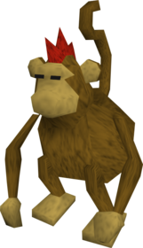 Karamja monkey.png: Monkey greegree equipped by a player