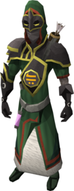 Trickster armour equipped.png: Trickster gloves equipped by a player