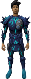 Augmented sirenic armour equipped.png: Augmented sirenic chaps equipped by a player