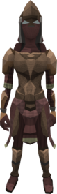 Megaleather armour equipped (female).png: Megaleather boots equipped by a player