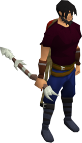 Harpoon (class 5) equipped.png: Harpoon (class 5) equipped by a player