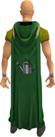 Hooded farming cape equipped.png: Hooded farming cape equipped by a player