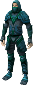 Tempest armour equipped.png: Tempest cowl equipped by a player