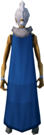 Blue cape equipped (female).png: Blue cape (tutorial) equipped by a player