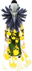 Soul cape (golden) equipped.png: Soul cape (golden) equipped by a player