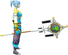 Banner of Sliske (tier 3) equipped.png: Banner of Sliske equipped by a player