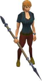 Katagon spear equipped.png: Katagon spear equipped by a player