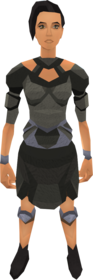 Agile armour equipped (female).png: Agile top equipped by a player