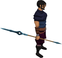Rune javelin equipped.png: Rune javelin equipped by a player