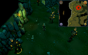 Scan clue Brimhaven Dungeon upper level centre of fire giant area.png