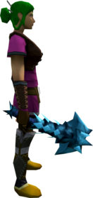 Drygore mace (ice) equipped.png: Drygore mace (ice) equipped by a player