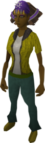 Modified diviner's headwear equipped (female).png: Modified diviner's headwear equipped by a player