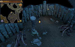Scan clue Taverley Dungeon north side of black demon chamber.png