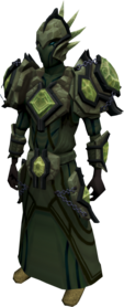 Elite tectonic armour (barrows) equipped.png: Elite tectonic robe top (barrows) equipped by a player