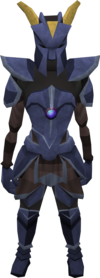 Katagon armour (heavy) equipped (female).png: Katagon platebody equipped by a player