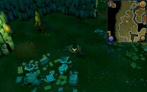 Scan clue Brimhaven Dungeon lower level Moss Giants chamber.png