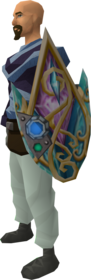 Augmented attuned crystal deflector equipped.png: Augmented attuned crystal deflector equipped by a player
