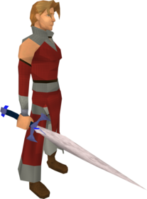Blurite sword equipped.png: Blurite sword equipped by a player