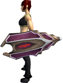 Mystic shield equipped.png: Mystic shield equipped by a player