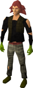 Brawling gloves (Ranged) equipped.png: Brawling gloves (Ranged) equipped by a player