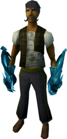 Rune claws equipped.png: Rune claws equipped by a player