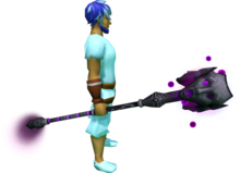 Staff of Sliske (shadow) equipped.png: Staff of Sliske (shadow) equipped by a player
