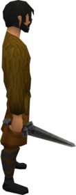 Iron sword equipped.png: Iron sword equipped by a player