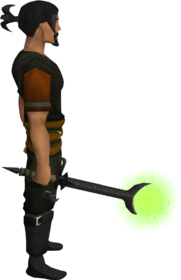 Ahrim's wand equipped.png: Ahrim's wand equipped by a player
