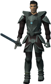 Sir Owen (Sagas).png: Sir Owen's longsword equipped by a player